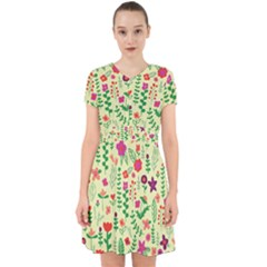 Cute Doodle Flowers 5 Adorable In Chiffon Dress
