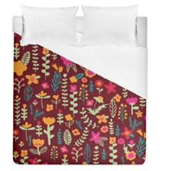 Cute Doodle Flowers 6 Duvet Cover (queen Size) by tarastyle