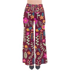 Cute Doodle Flowers 6 Pants by tarastyle