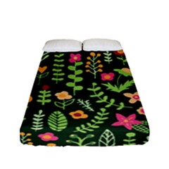 Cute Doodle Flowers 7 Fitted Sheet (full/ Double Size) by tarastyle