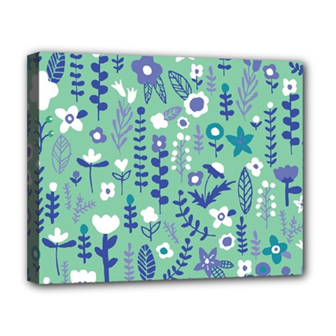 Cute Doodle Flowers 9 Deluxe Canvas 20  X 16   by tarastyle