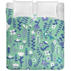Cute Doodle Flowers 9 Duvet Cover Double Side (california King Size) by tarastyle
