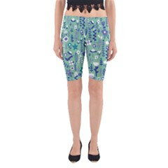 Cute Doodle Flowers 9 Yoga Cropped Leggings by tarastyle