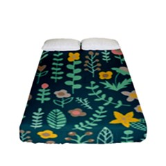 Cute Doodle Flowers 10 Fitted Sheet (full/ Double Size) by tarastyle