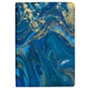 ocean blue gold marble Apple iPad Pro 9.7   Flip Case View1