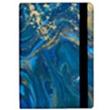 ocean blue gold marble Apple iPad Pro 9.7   Flip Case View2