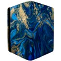 ocean blue gold marble Apple iPad Pro 9.7   Flip Case View3