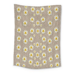 Star Fall Of Fantasy Flowers On Pearl Lace Medium Tapestry by pepitasart