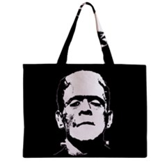 Frankenstein s Monster Halloween Zipper Mini Tote Bag by Valentinaart