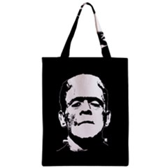 Frankenstein s Monster Halloween Zipper Classic Tote Bag by Valentinaart