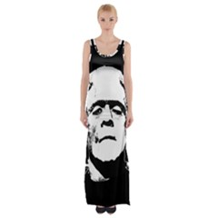 Frankenstein s Monster Halloween Maxi Thigh Split Dress