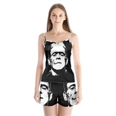 Frankenstein s Monster Halloween Satin Pajamas Set by Valentinaart