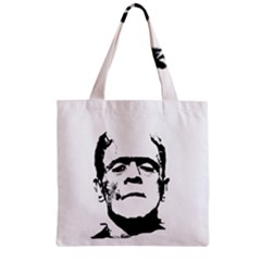 Frankenstein s Monster Halloween Zipper Grocery Tote Bag