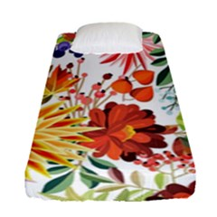 Autumn Flowers Pattern 1 Fitted Sheet (single Size) by tarastyle