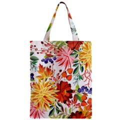 Autumn Flowers Pattern 1 Zipper Classic Tote Bag by tarastyle