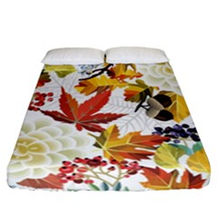 Autumn Flowers Pattern 3 Fitted Sheet (california King Size) by tarastyle