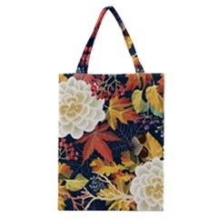 Autumn Flowers Pattern 4 Classic Tote Bag by tarastyle