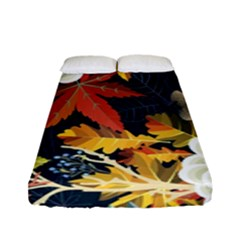 Autumn Flowers Pattern 4 Fitted Sheet (full/ Double Size) by tarastyle