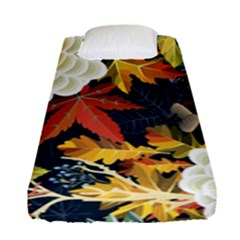 Autumn Flowers Pattern 4 Fitted Sheet (single Size) by tarastyle