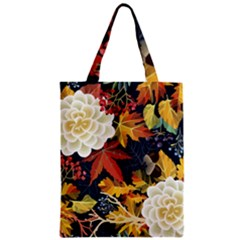 Autumn Flowers Pattern 4 Zipper Classic Tote Bag by tarastyle