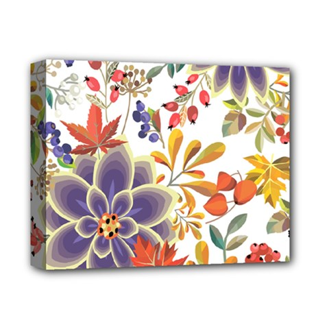 Autumn Flowers Pattern 5 Deluxe Canvas 14  X 11  by tarastyle