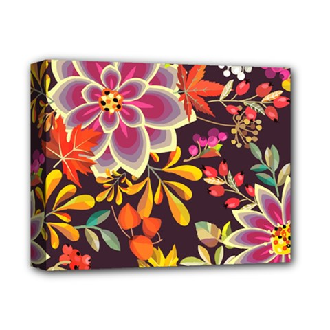 Autumn Flowers Pattern 6 Deluxe Canvas 14  X 11  by tarastyle