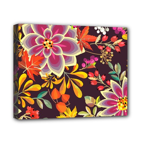 Autumn Flowers Pattern 6 Canvas 10  X 8  by tarastyle