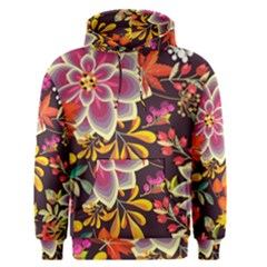 Autumn Flowers Pattern 6 Men s Pullover Hoodie by tarastyle