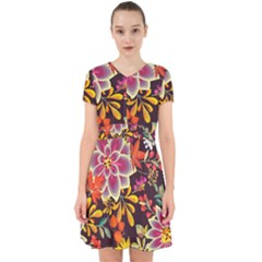 Autumn Flowers Pattern 6 Adorable In Chiffon Dress