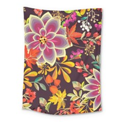 Autumn Flowers Pattern 6 Medium Tapestry by tarastyle