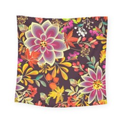 Autumn Flowers Pattern 6 Square Tapestry (small) by tarastyle