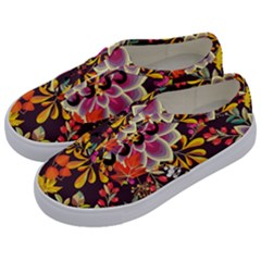 Autumn Flowers Pattern 6 Kids  Classic Low Top Sneakers by tarastyle