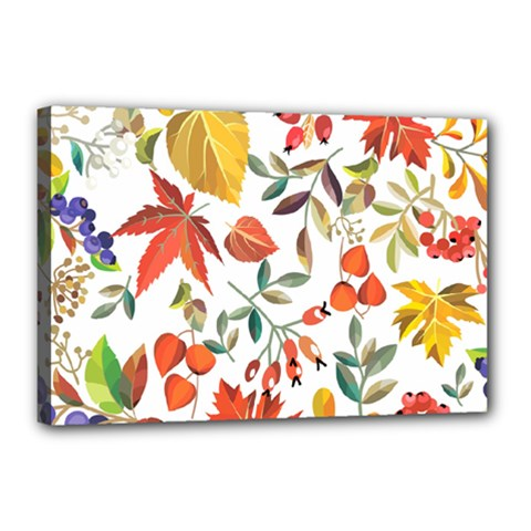 Autumn Flowers Pattern 7 Canvas 18  X 12  by tarastyle