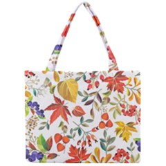 Autumn Flowers Pattern 7 Mini Tote Bag by tarastyle