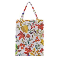 Autumn Flowers Pattern 7 Classic Tote Bag by tarastyle