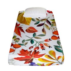 Autumn Flowers Pattern 7 Fitted Sheet (single Size) by tarastyle