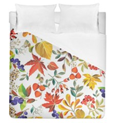 Autumn Flowers Pattern 7 Duvet Cover (queen Size) by tarastyle