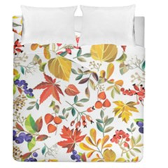 Autumn Flowers Pattern 7 Duvet Cover Double Side (queen Size) by tarastyle