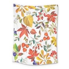 Autumn Flowers Pattern 7 Medium Tapestry by tarastyle