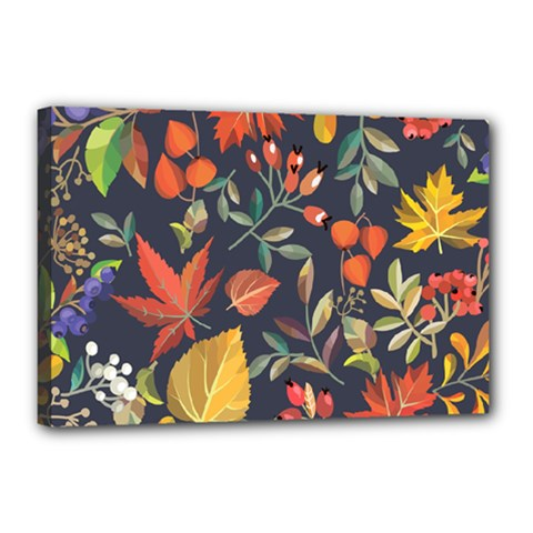 Autumn Flowers Pattern 8 Canvas 18  X 12  by tarastyle