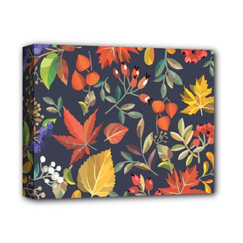 Autumn Flowers Pattern 8 Deluxe Canvas 14  X 11  by tarastyle