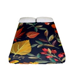 Autumn Flowers Pattern 8 Fitted Sheet (full/ Double Size) by tarastyle