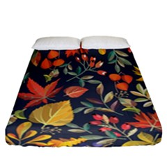 Autumn Flowers Pattern 8 Fitted Sheet (california King Size) by tarastyle