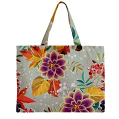Autumn Flowers Pattern 9 Zipper Mini Tote Bag by tarastyle