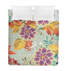 Autumn Flowers Pattern 9 Duvet Cover Double Side (full/ Double Size) by tarastyle