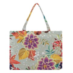 Autumn Flowers Pattern 9 Medium Tote Bag by tarastyle