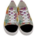 Autumn Flowers Pattern 9 Women s Low Top Canvas Sneakers View1