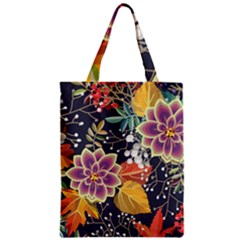 Autumn Flowers Pattern 10 Zipper Classic Tote Bag by tarastyle