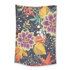 Autumn Flowers Pattern 10 Small Tapestry by tarastyle