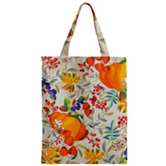 Autumn Flowers Pattern 11 Zipper Classic Tote Bag by tarastyle